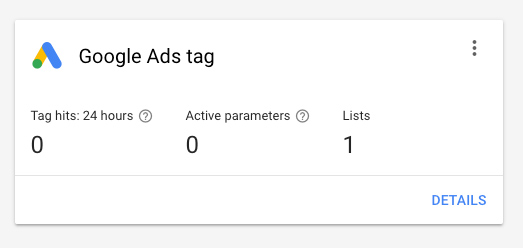 existing google remarketing tag