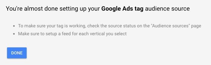 google remarketing ads tag