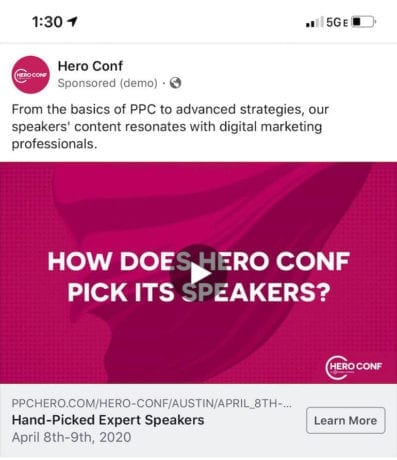Facebook Ads Live Preview